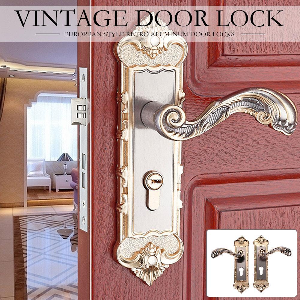 Indoor Door Lock Aluminum Door Locks Mechanical Lock Door Lock Handle Practical Bedroom Doorknob Sturdy Colour Aluminum Alloy заварочный чайник gipfel 7213 glacier memphis 350мл