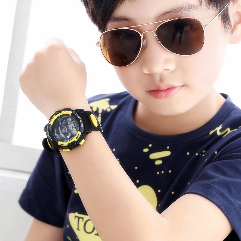 Children Watch Sport Kids Watches Silicone Strap Waterproof LED Digital Watch For Kid Children Student Girl Boy Wristwatch Clock 6
