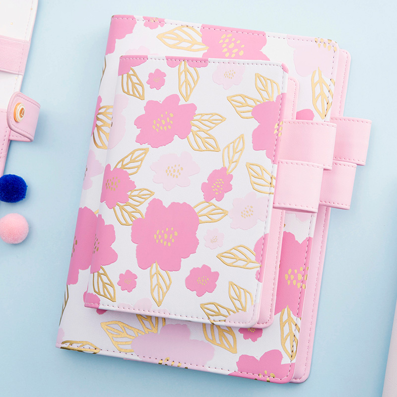 Lovedoki Notebook Korean Stationery for hobonichi Planner Foil Flower leaf Personl Daily Weekly Planner organizer schedule bookLovedoki Notebook Korean Stationery for hobonichi Planner Foil Flower leaf Personl Daily Weekly Planner organizer schedule book