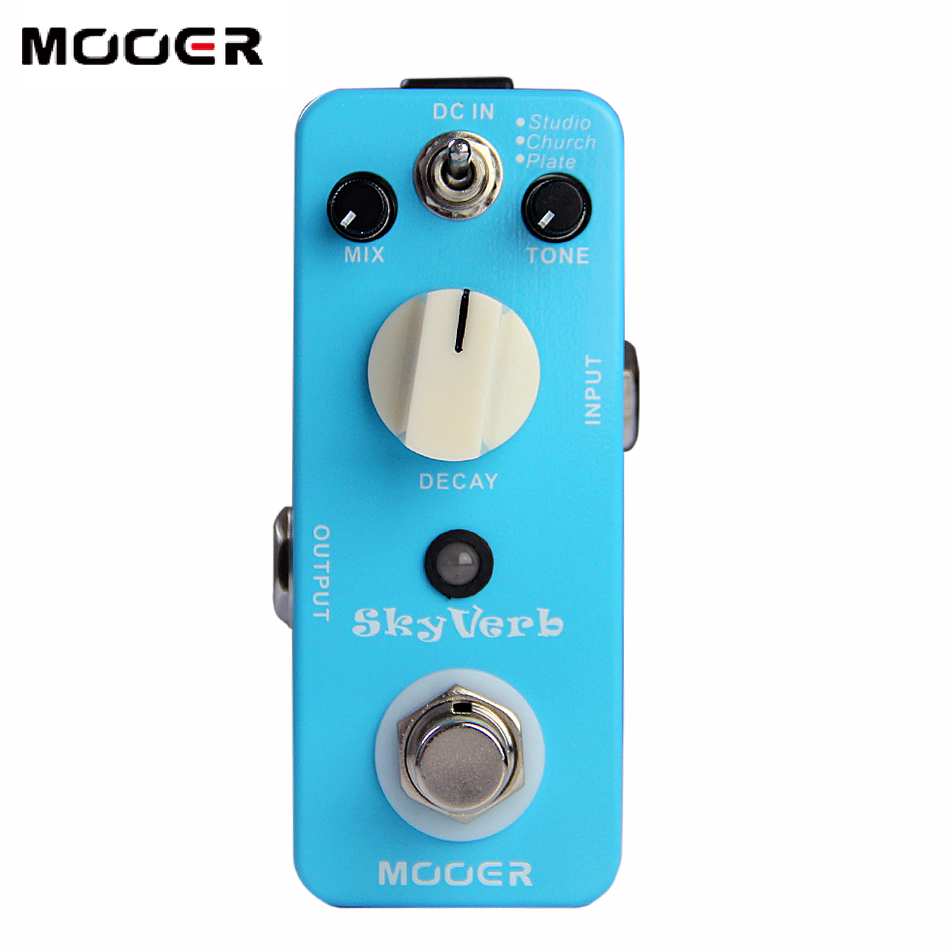 Mooer Sky Verb Digital Reverb Effects Pedal Using a 32 Bit Fixed Point DSP Chip dobson c french verb handbook