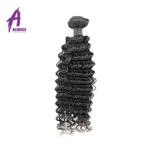 Alimice Hair Brazilian Deep Wave Hair Bundles Natural Color 100% Human Hair Weave 10-26inch Non-Remy Hair Free Shipping