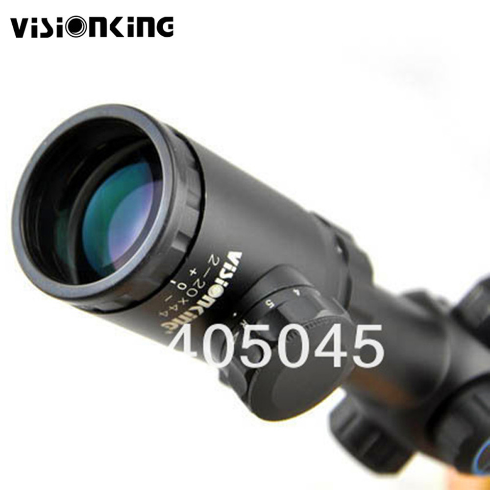 Visionking 2x-20x44 Side Focus Rifle Scope High Power .223 .308 30-06 .338 Hunting Riflescope Tactical Scope W/11mm Mount Rings visionking 4 20x50 top quality optics riflescope high power shockproof rifle scope for hunting tactical riflecopes w 11mm mounts
