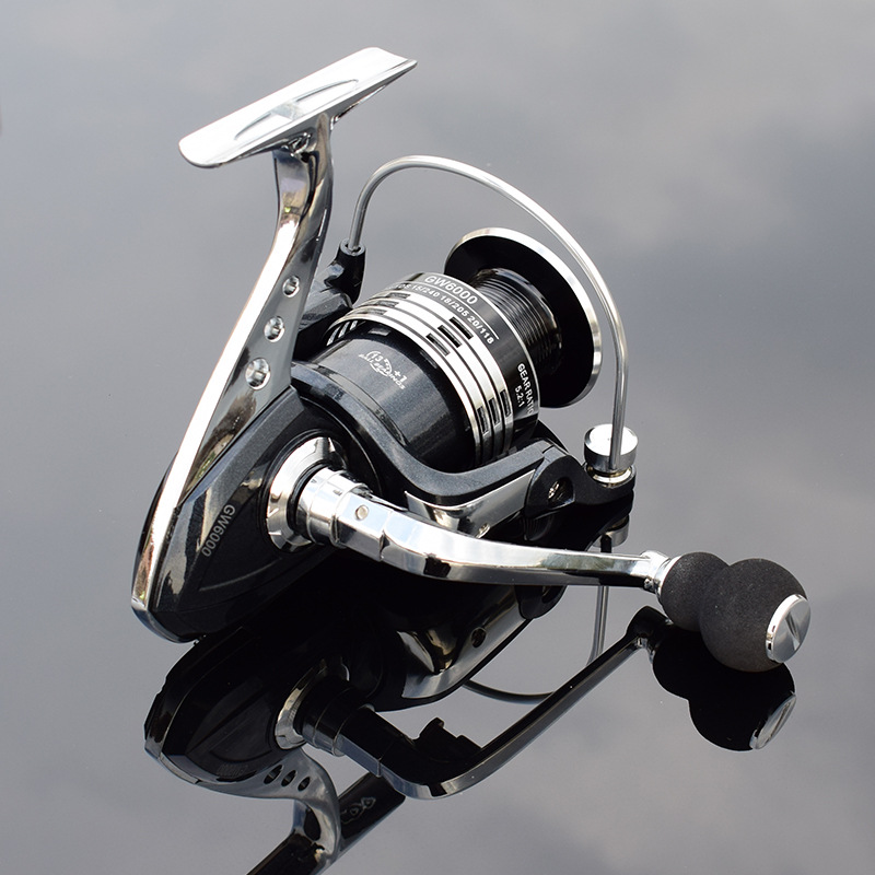 Image 3 - Deshion 13+1BB Black Stainless Steel Spinning Fishing Reel 1000 6000 Series Saltwater Casting Fishing Coil Spinning Reels-in Fishing Reels from Sports & Entertainment