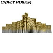 Crazy Power 1.5-10mm 99Pcs/Set High Steel Titanium Coated Twist Drill HSS Drills Bits Woodworking Wood Tool Cordless Screwdriver