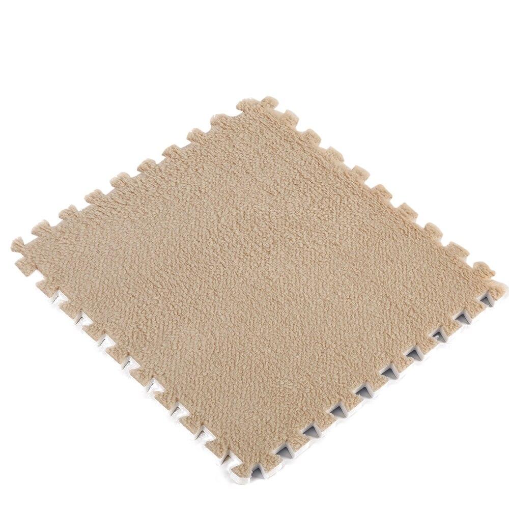 Ребенок ползает коврики покрытие для пола Сращивание ковры 30*30*0,6 см EVA пластик пены 30*30*0,6 30*30*0,6 водостойкий противоударный - Цвет: camel color