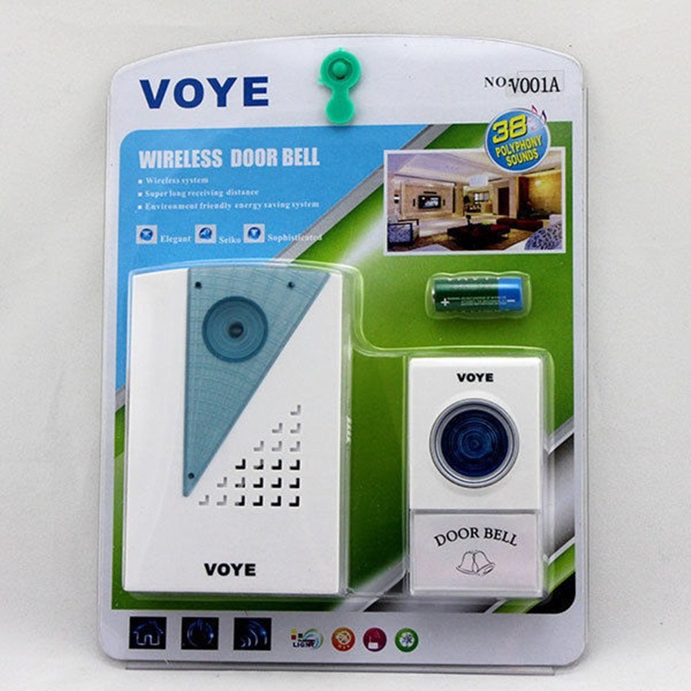 Wireless Doorbell With Push Button Less Power Consumption High Quality (White)