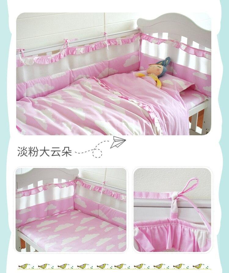 Großhandel Rosa Baby Mädchen Bettwäsche Set Neugeborene Krippe