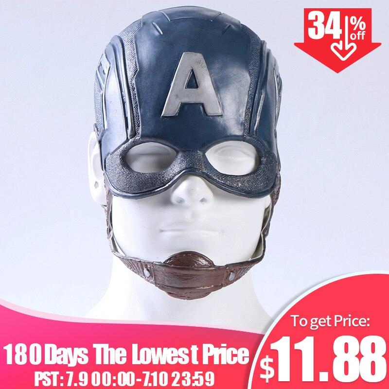 Movie Captain America 3 Civil War Steven Rogers Superhero Cosplay Props Masks Helmets Party Halloween Cos locket