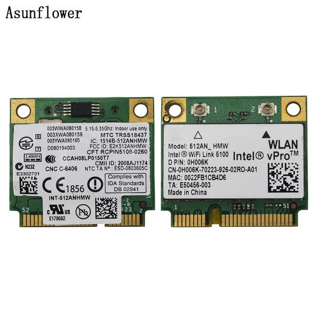 אלחוטי כרטיס 512AN_HMW עבור Intel WiFi Link 5100 מיני PCI E כרטיס Wlan מתאם רשת למחשב נייד 2.4G/5Ghz עבור Dell