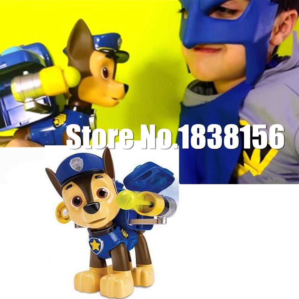 Pop Juguetes Patrulla Canina Oyuncaklar Yavru Çocuklar Rus Karakol Çocuk Boy Kuklalar Köpek Anime Action Figure Chase Marshall 20 cm
