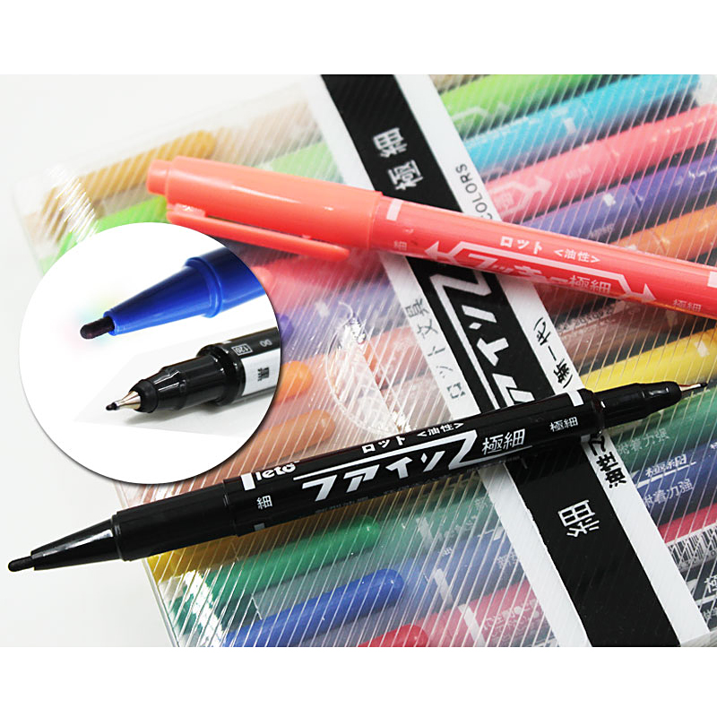 12 Colours set Marker Pen Marker Art and Graphic Drawing Manga Water Based Ink Twin Tip Brushand Fine Tip Sketch self-selection