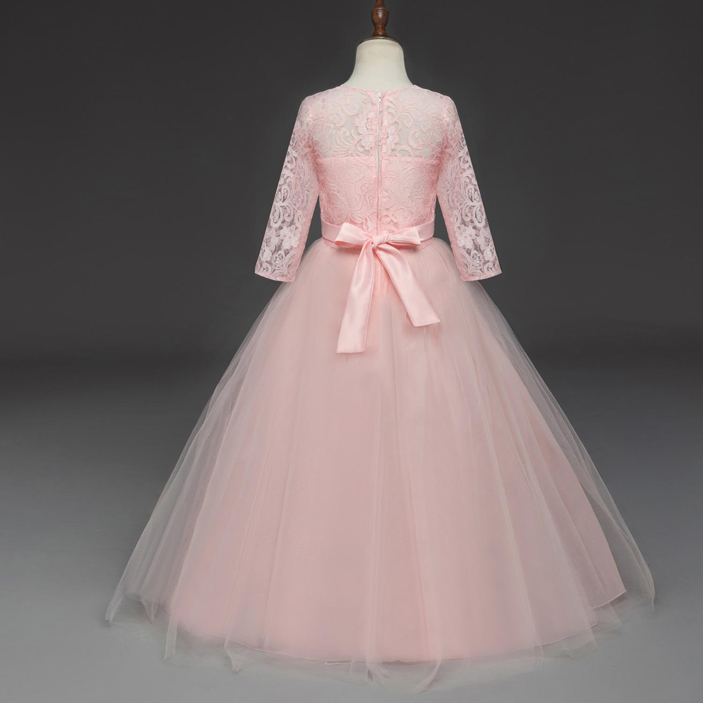 62ae1d5e963ba Summer Girls Party Dress Elegant Flower Girl Princess Dress Childr...