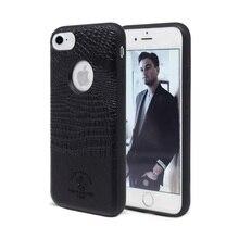 Из крокодиловой кожи с рисунком сотовый телефон аксессуары для iPhone 7 для iPhone 7 Plus чехол для Apple, телефон случаях красный коричневый, черный