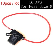 10 Pcs medium size In-line Blade Fuse Holder Cable ATC/ATO for Car Electronics Modify Lab Solar System Circuit Overload Protect