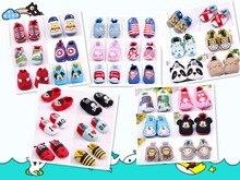 New Style Cute Cartoon Patchwork Prewalker 0 12 Months Baby Girls Boys Soft Non slip 12cm