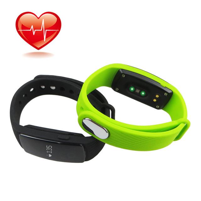 HR Bluetooth 4.0 Inteligente Pulseira de Relógio Monitor De Freqüência Cardíaca Pulseira Smartband ID107 Pedômetro Rastreador De Fitness para Android iOS
