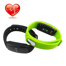 HR Bluetooth 4.0 Smart Bracelet Watch Smartband ID107 Heart Rate Monitor Wristband Pedometer Fitness Tracker for Android iOS