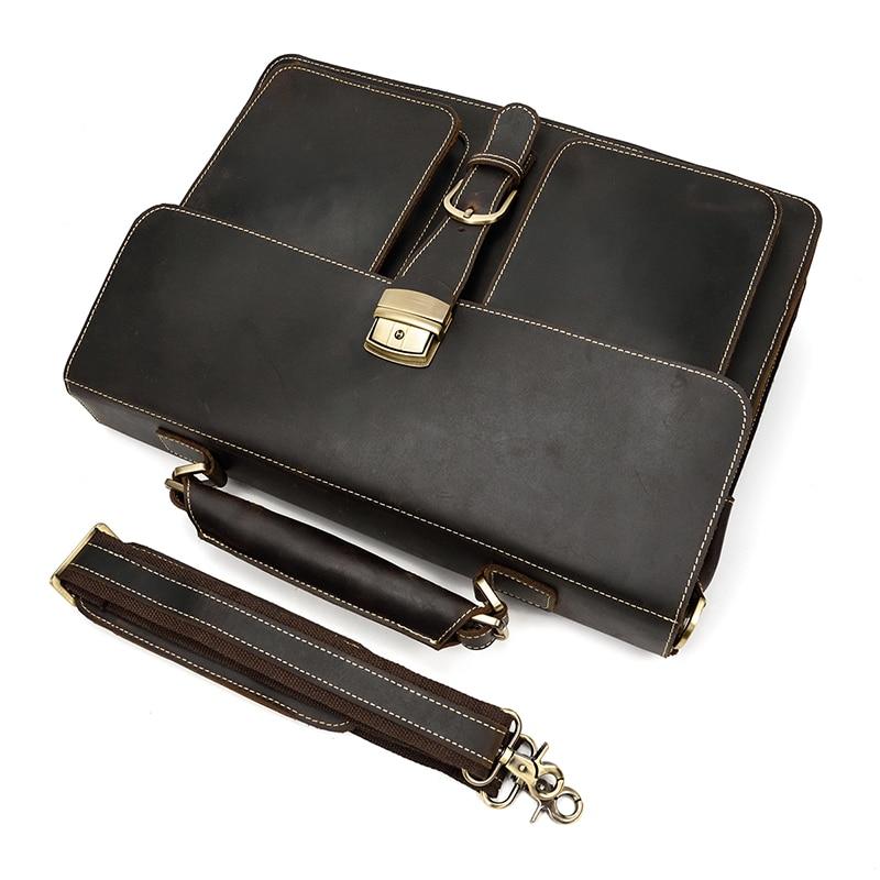 HTB1VdJuQH2pK1RjSZFsq6yNlXXaH MAHEU Luxury Fashion 100% Genuine Leather Men Briefcase Cow Leather Laptop Bag Vintage Shoulder Bag Real Cowhide Computer Bag
