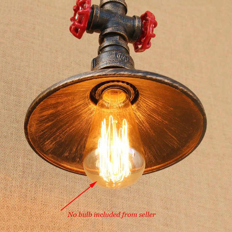 Loft Vintage Retro Lampen Waterleiding Lichten Trechter Iron Bar Restaurant Industrie Wind Cafe Gangpad Trap Woonkamer Hanglamp