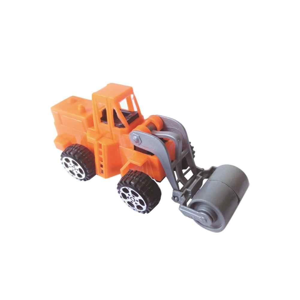 6 Models Of Pull-back Engineering Vehicle Children Alloy Model Car Pull-back Car Model Miniature Scale Model Car Toys