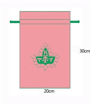 Canvas Drawstring Bag,72 pink bag,with C7 green jade rope 20 cm X 30 cm ,100pcs,print same green logo rope canvas print beach bag