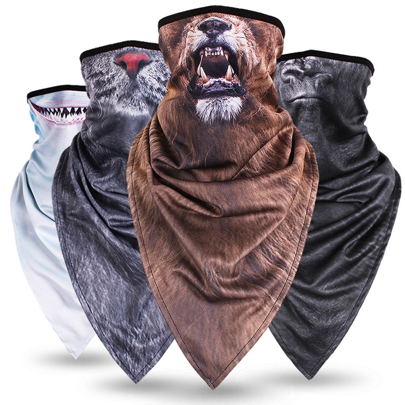 New Long paragraph triangle animal mask hood masks sunscreen breathable men and women outdoor riding collar guard face towel
