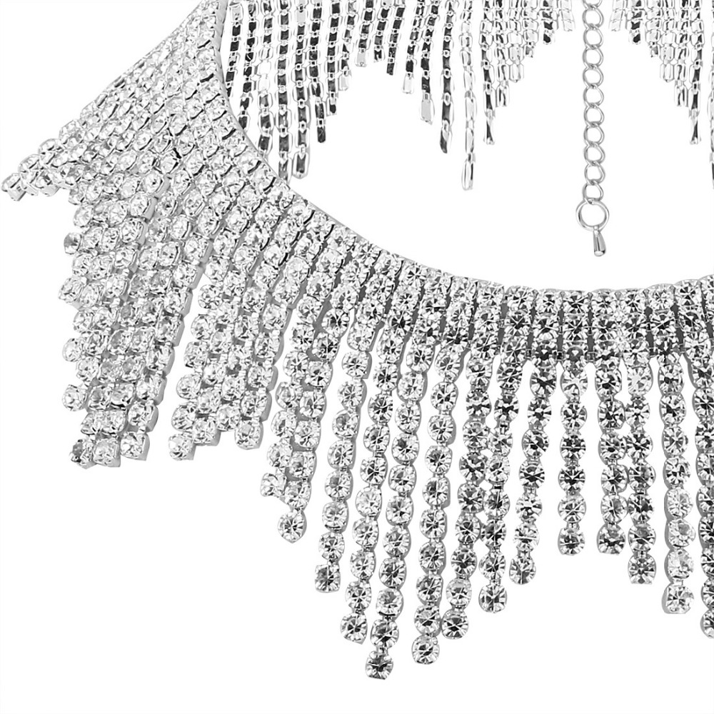 Gothic Punk Silver Rhinestone Choker statement necklaces for women big  Fashion necklace Collar Maxi Necklace Collier 2017-in Chain Necklaces from  Jewelry ... c1b9f1744ece