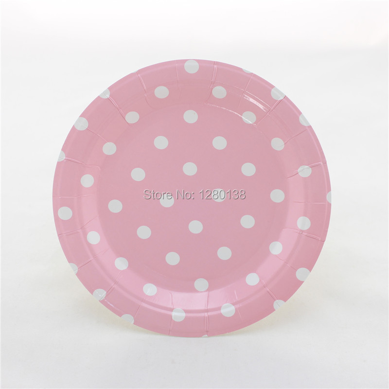 Free Shipping Wedding Graduation Party Supplies 7  Polka dot Paper Plates Dispoable Yellow Green Pink Party Plates-in Disposable Party Tableware from Home ... & Free Shipping Wedding Graduation Party Supplies 7