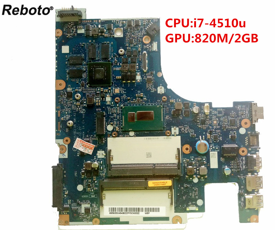 Reboto For lenovo Z50-70 Laptop Motherboard 5B20G45430 ACLUA/ACLUB NM-A273 i7-4510u 820M/2GB DDR3 4 video 100% Tested Fast Ship