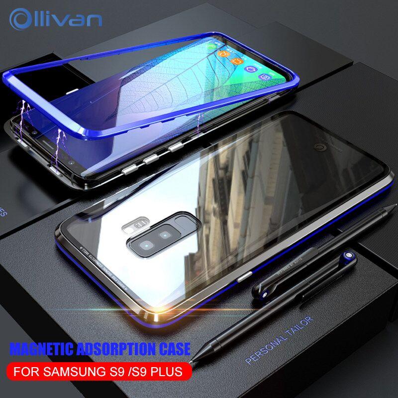 Magnetische Adsorption Fall Für Samsung Galaxy S9 Luxus Metall ...