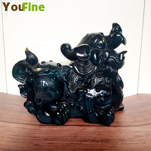 Antique Crafts Exquisite Pure Copper Bronze Brave Forces Statue Chinese Feng Shui Lucky Decoration Home Gifts