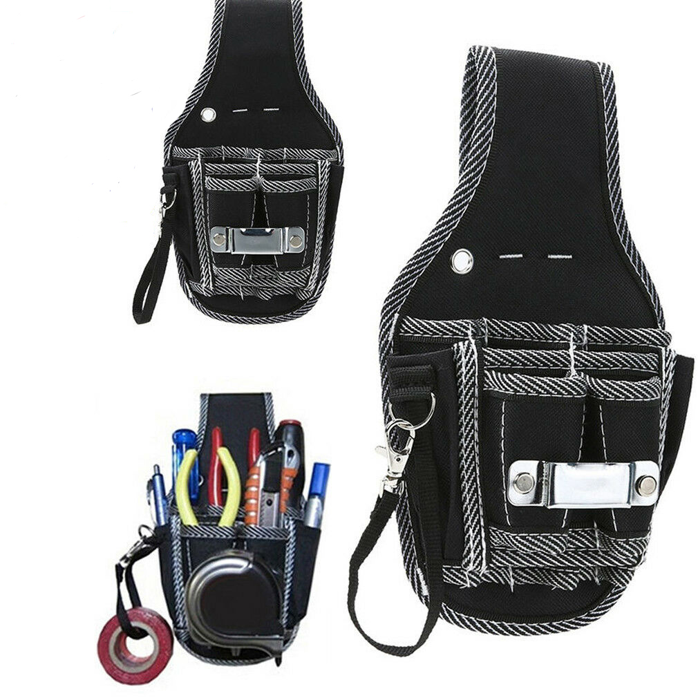 Electrician Waist Pocket Tool Belt Pouch Bag Screwdriver Kit Holder Case Cal