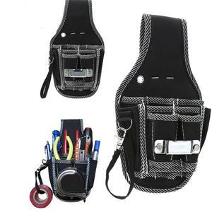 kit de soporte bolsa de herramientas destornillador de bolsillo Bolsa de herramientas para electricista kit de bolsillo para cintura cintur/ón de cuero
