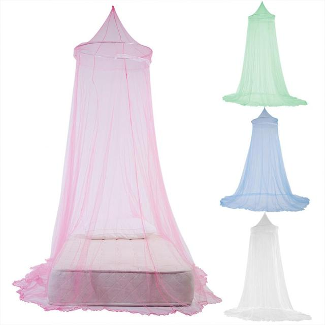 NEW Fashion Baby Crib Netting Hung Dome Bed Canopy Curtain Mosquito Netting Children Bedding Round Elegant Lace Princess Bed