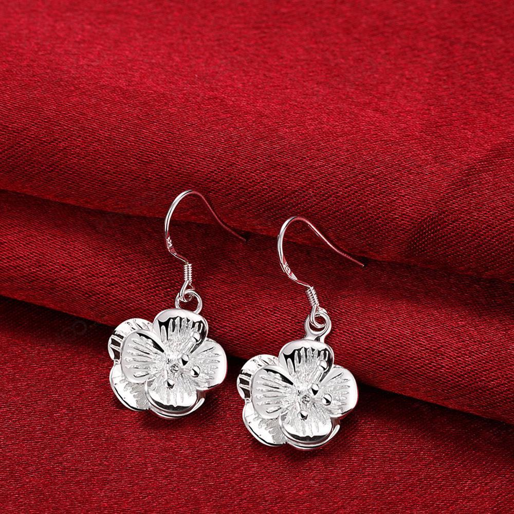 Jewels Sliver Color Classic Beautiful Flowers Big Earrings Studs Fashion  Stainless Steel Earring Jewelry For Womenin Drop Earrings From Jewelry
