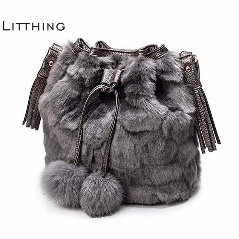 258a04e39705 Detail Feedback Questions about Fashion Women Shoulder Bag Black Ladies  Crossbody Bag Plush Leopard Print Faux Fur Hairy Female Tote Bags for Women  2018 on ...