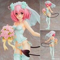 Hot Japan Sexy Figur Anime MaxFactory MF TO LOVE RU Momo Belia Deviluke in Hochzeit Kleid Puppe 25 CM PVC Action Figure Spielzeug F027