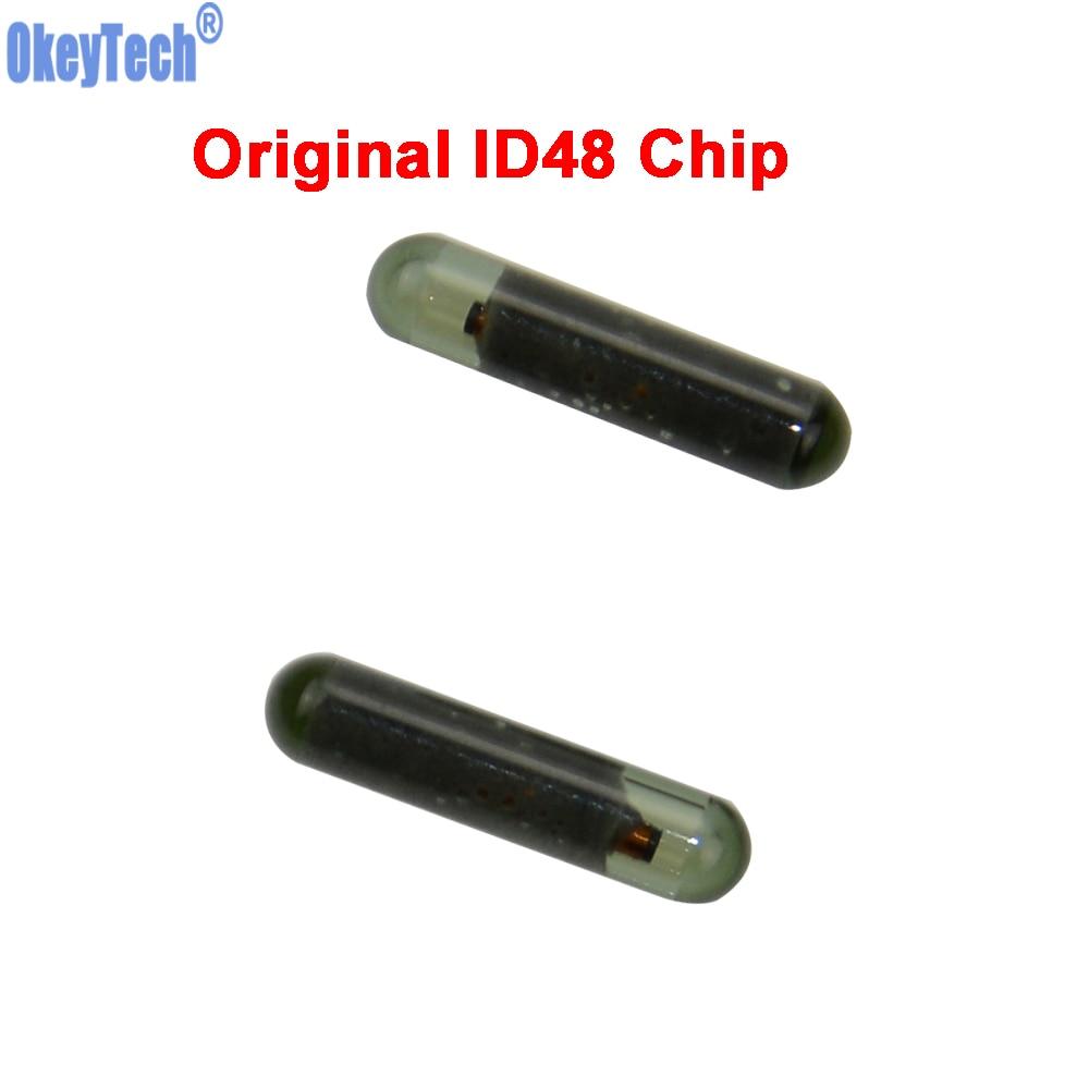 Original for VW AUDI SKODA SEAT OEM ID48 Glass Chip Car Transponder Key Chip