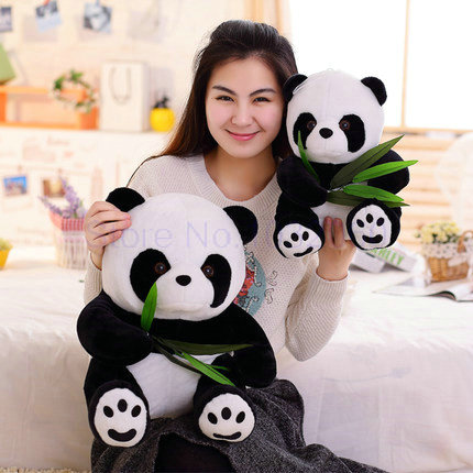 9-40cm 1 piece large size Panda Doll Plush Toy baby bear pillow panda cloth doll kids toys baby birthday gift for Children the lovely panda toys sitting panda plush doll with red heart soft toy birthday gift about 30cm