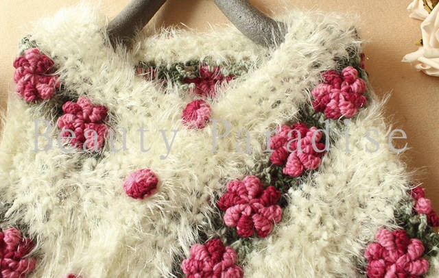 Aliexpress.com  Buy Handmade Crochet Sweaters 2017 Autumn Women Mohair  Rose Floral Hollow Out Batwing Tassel Wrap Swing Cardigan femininas 5086  from