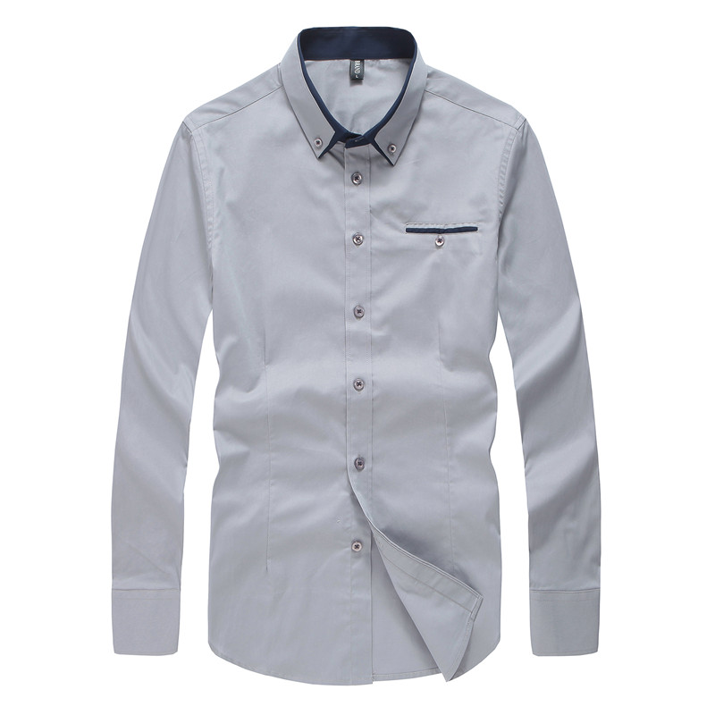2019 New Spring Cotton Shirts Men High Quality Long Sleeve Slim Fit Shirt Pure Color Modern Casual Camisa Big Size 5xl Yn270