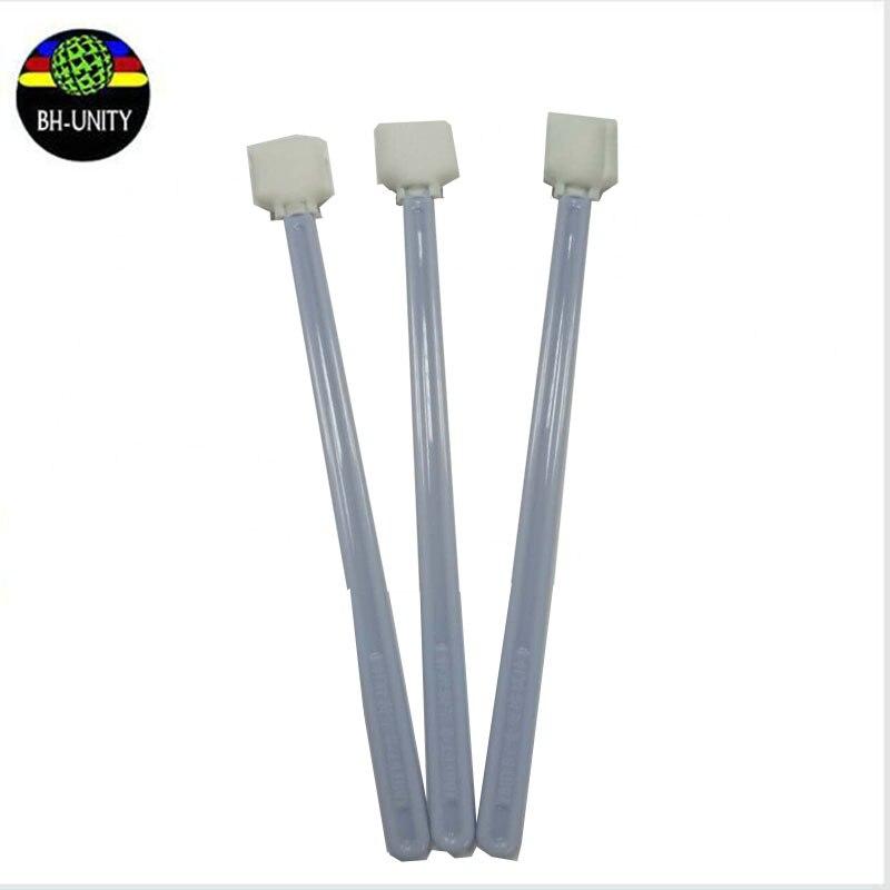 Купить с кэшбэком 50pcs/bag imported xp600 dx5 dx7 mimaki printhead long cleaning stick swabs 23cm for all solvent printer and printhead on sale