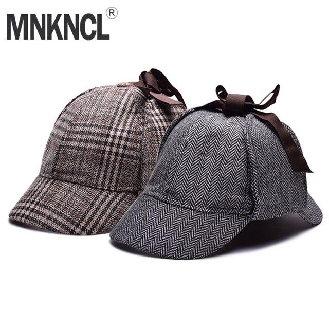High Quality Cosplay Cap Detective Sherlock Holmes Deerstalker Hat Gray  Cups New Berets Cap Vestidos ff933e80a3a