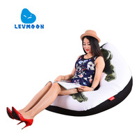 LEVMOON Beanbag Sofa Chair Hulk Seat Zac Shell Comfort Bean Bag Bed Cover Without Filler Cotton