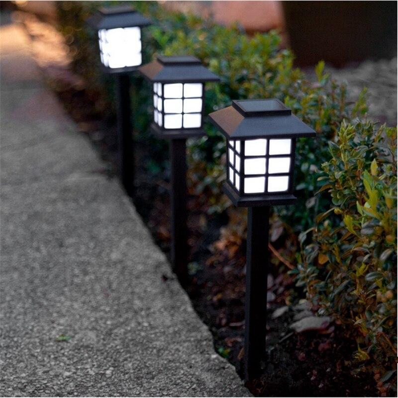 Newest Solar Garden Light Outdoor Ground Lamp Solar Landscape Lawn Light Home Garden Yard Wall Fence Pathway Lamp Night Light Solar Lamps Aliexpress