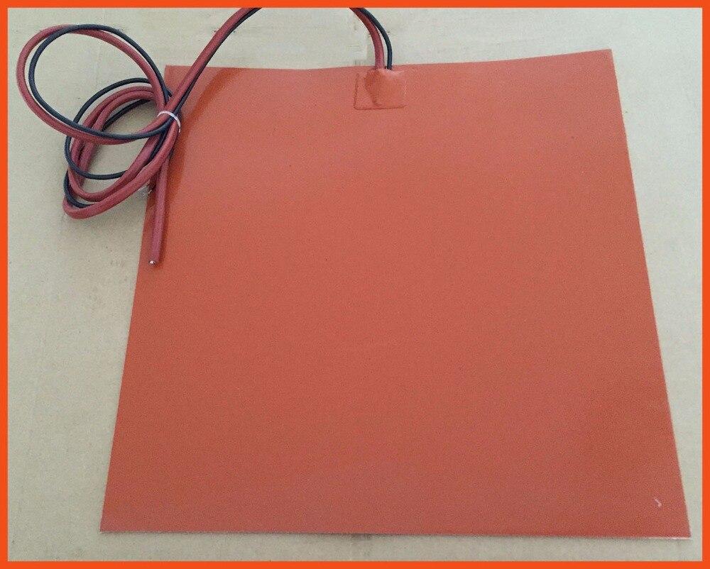 Силиконовой резины с подогревом Горячие кровать для 3D-принтеры Интимные аксессуары 12 В 225x225 мм 24 В 200 Вт используется для разнообразие сушил...