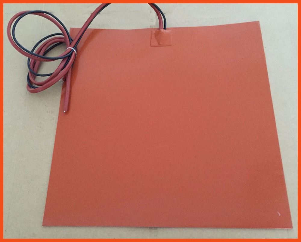 Silicone Rubber Heated Hot Bed For 3D Printer Accessories 12V 225 X 225MM 24V 200W used for A variety of drying machine electric um 2 go 3d printer parts upgrade silicone rubber heater mat heated bed pt100 sensor for ultimaker 2 go build platform