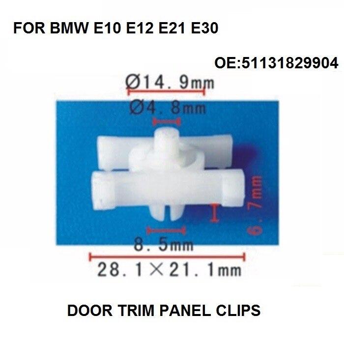 x10 Pieces Door Side Impact / Rocker Moulding Clip for BMW E10 E12 E21 E30 51131829904