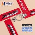 Новый Творческий Красный Брелок Вышивать Металл Самолета Boeing 737 747 757 767 777 787 Лучший Подарок для Полета Экипаж Пилот Авиации любовник