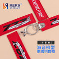 New Creative Red Key Chain Embroider Metal Plane Boeing 737 747 757 767 777 787 Best Gift for Flight Crew Pilot Aviation Lover